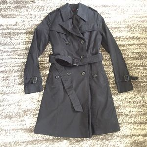 Uniqlo black trench xs