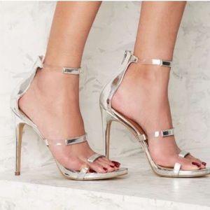 Nasty Gal Silver Heels 9