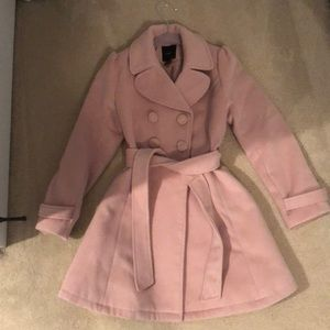 Light pink pea coat