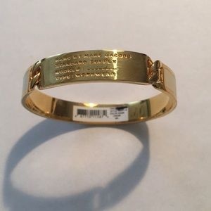 Marc by Marc jacobs cream gold bangle