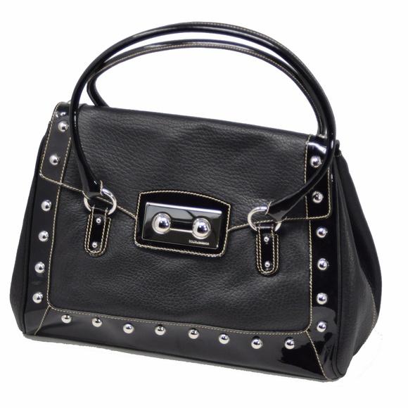 0d847ec2ed06 Dolce   Gabbana Leather   Patent Leather Handbag