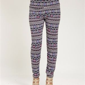 Pants - Tribal Print Plus Size Leggings