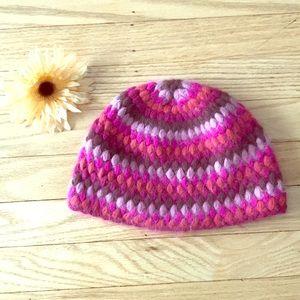 Angora striped hat