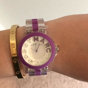 Marc by Marc Jacobs Purple and Clear Watch