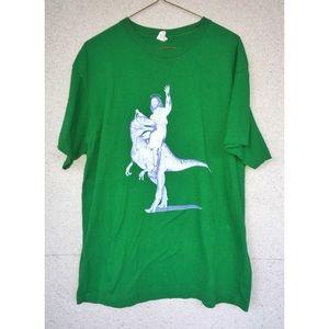 Jesus on a Dinosaur - Graphic T-Shirt