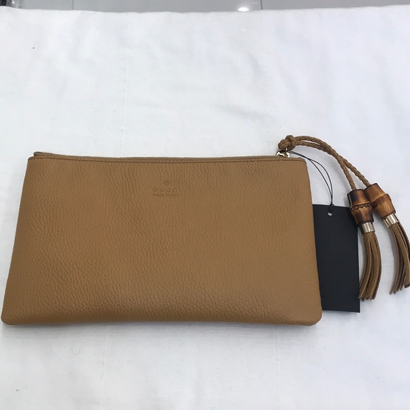794f2f7bb9b1 Gucci Bags | Brand New Authentic Bamboo Tassel Clutch | Poshmark
