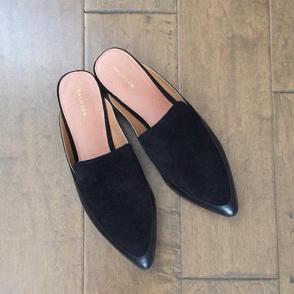 c0117dc8616 Halogen Shoes - Halogen Black Leather Mules