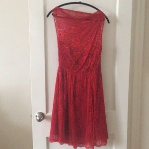 Sophie Theallet x The Limited Red Lace Dress