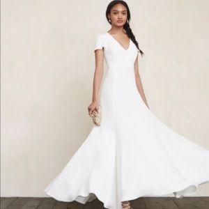 REFORMATION MIA WHITE WEDDING DRESS // SIZE 10 🦋