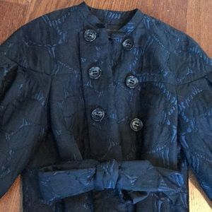 BCBG MAXAZRIA Black&Navy Blue Short Jacket XS