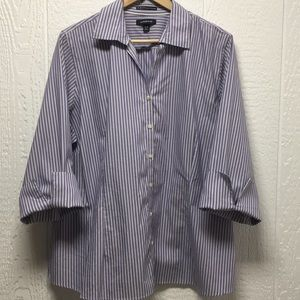 Lavender Cuffed Button-Up