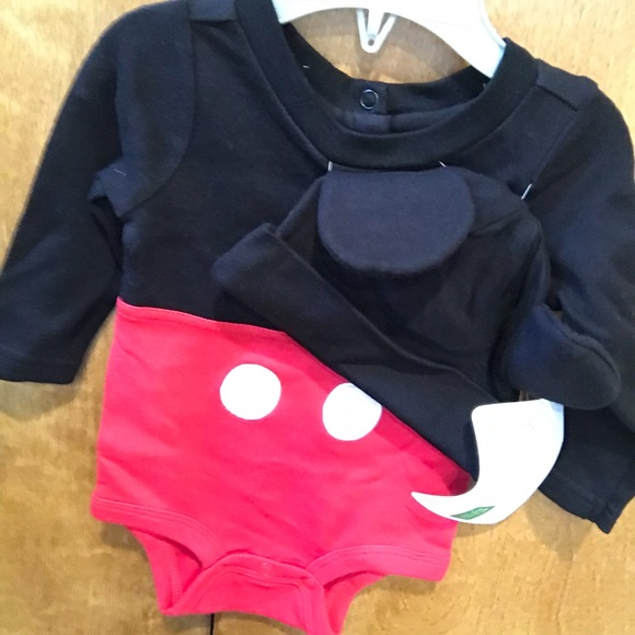 f4763db05 Disney Matching Sets | Baby Boy Mickey Mouse Long Sleeve Onesie 36 ...