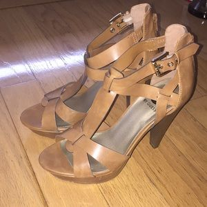 G by Guess Tan Heel Henzie Sandal