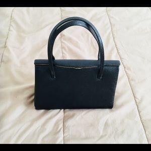 Vintage made in England leather handbag in black