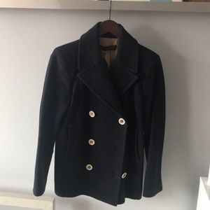 Navy wool peacoat from Zara