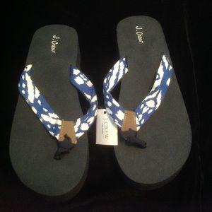 J. Crew women's sandals flip flops nwt 7 M