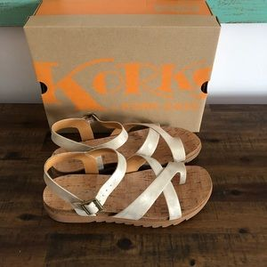 Korks by Kork Ease Lyell gold metallic sandal 🌺