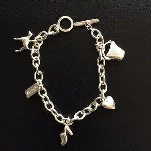 COACH sterling silver charm bracelet NEW. RARE