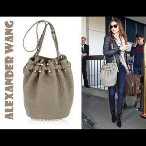 Alexander Wang Tan taupe Leather Diego Bucket Bag