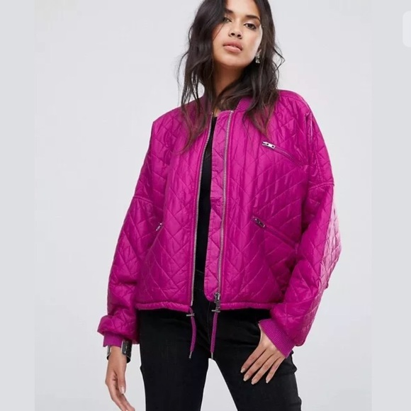 70% off Free People Jackets & Blazers - Free People Hot Pink ...