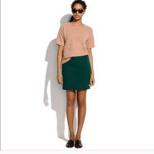 Madewell Hunter Green Wool Mini Skirt Size 8