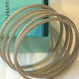 Tiffany & Co. Somerset Mesh Bangles Bracelets