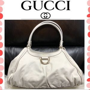 Authentic Gucci D Ring leather tote