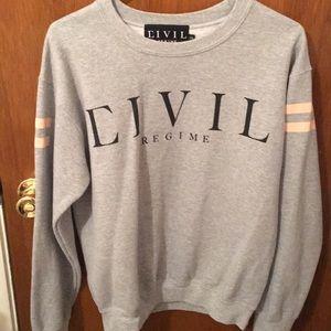 Sweaters - Grey Civil crew neck