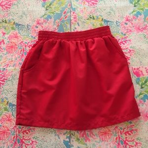 American Apparel Red Skirt With Pockets!