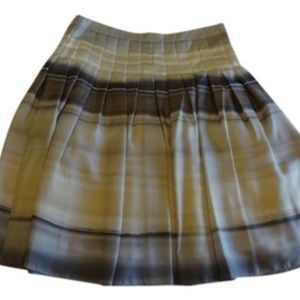 Theory Watercolor Pleated Skirt
