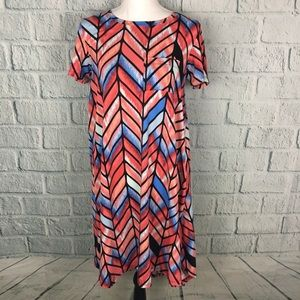 Lularoe NWOT Carly Wildfire Chevron Tunic Dress