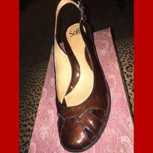 sofft Brown-Copper Sling Back Heels