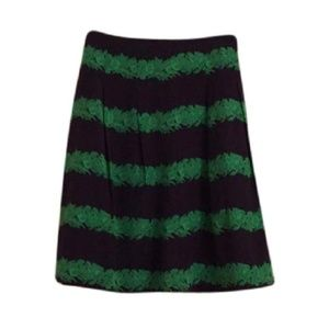 J. Crew Blue and Green Skirt