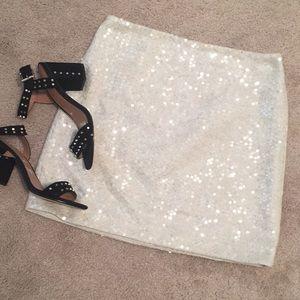 Off white Kenar Sequin mini skirt