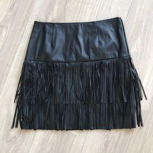 TROUVE leather fringe skirt 2