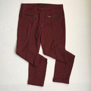 Zara Trafaluc Houndstooth slim fit trousers
