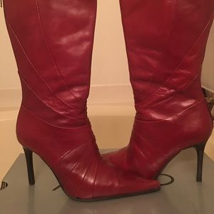 🎀Aldo all leather red boots size 39🎀