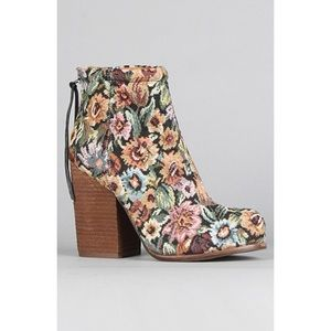 Jeffrey Campbell | Floral Tapestry Rumble Boots