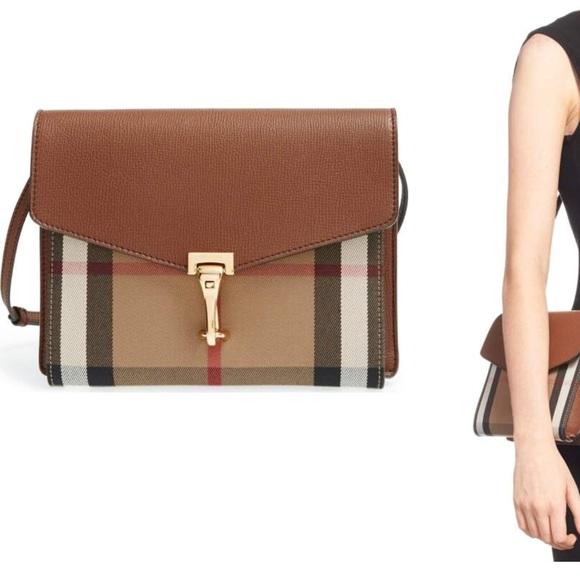 4a1b7c11cfd5 Burberry Handbags -  Small Macken  Check Crossbody Bag Burberry