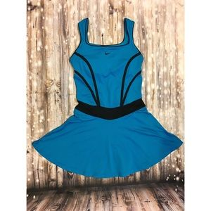 Nike dri-fit bright blue tennis dress