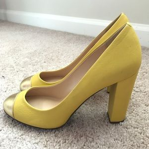 J.Crew Etta cap toe leather pumps