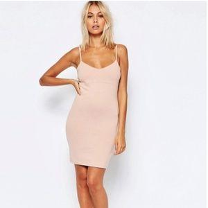 Asos pink strappy dress