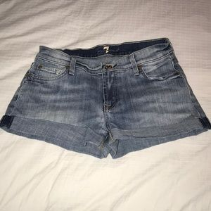 7 for all mankind size 26 denim shorts