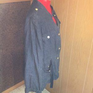 Chico's Jackets & Coats - Chico's Navy Denim Jacket