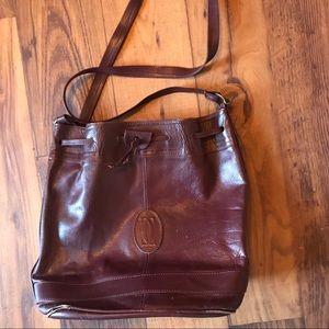 Vintage Oxblood Bucket Bag Purse