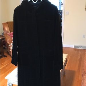 Kenneth Cole black velvet coat