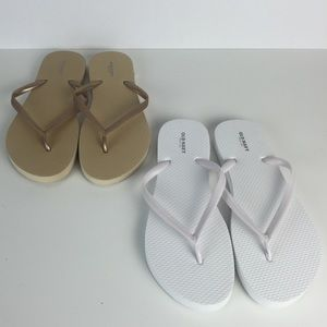 Lot of 2 Brand New Old Navy Flip Flops Size 8