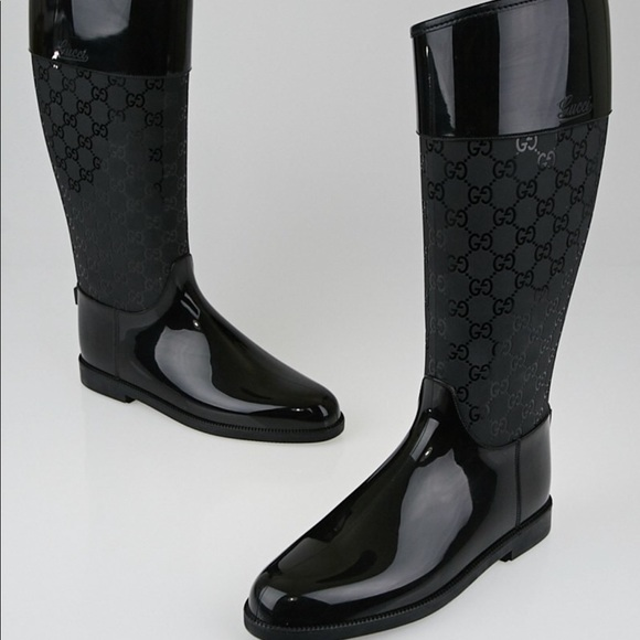 Black Gucci Rain Boots   Poshmark