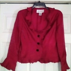 Beautiful red blazer jacket by Victor Costa