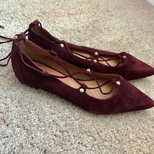 Halogen Suede Lace Up Flats